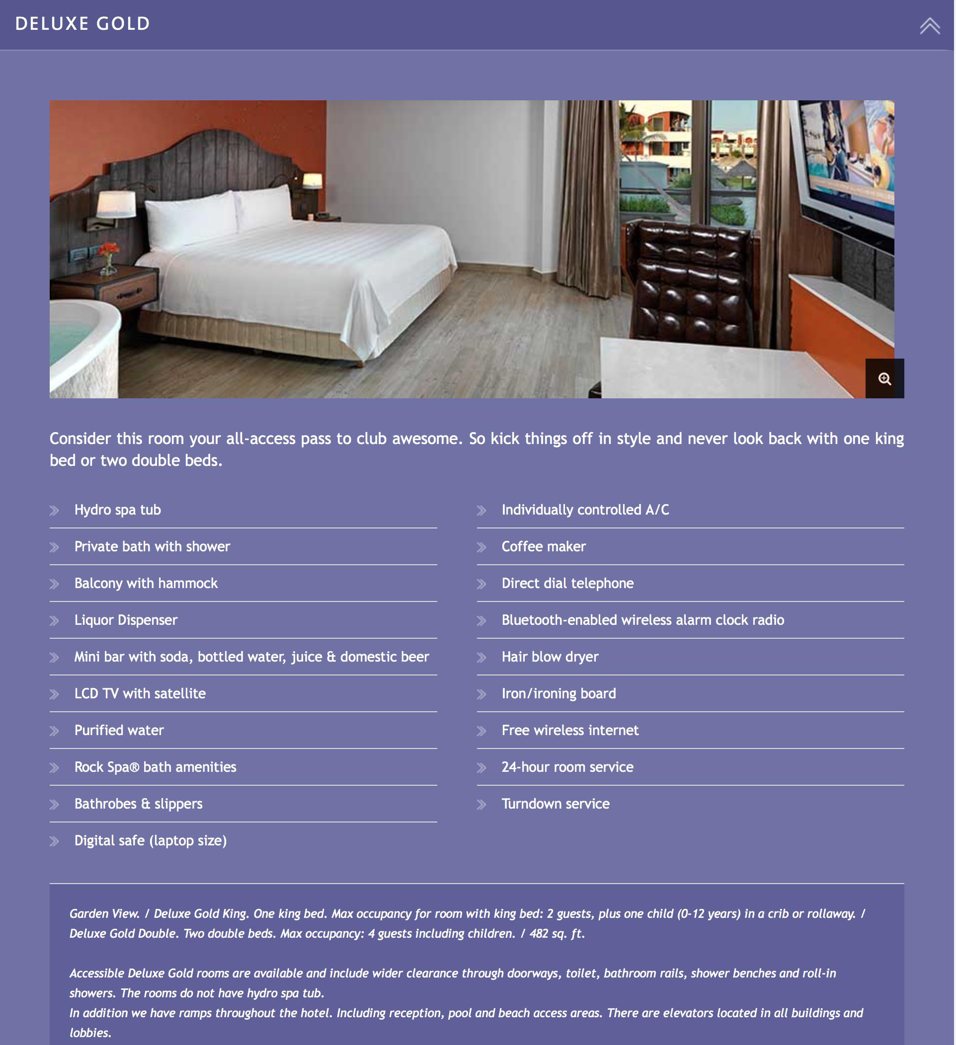 HR Riviera Maya Deluxe Room Info