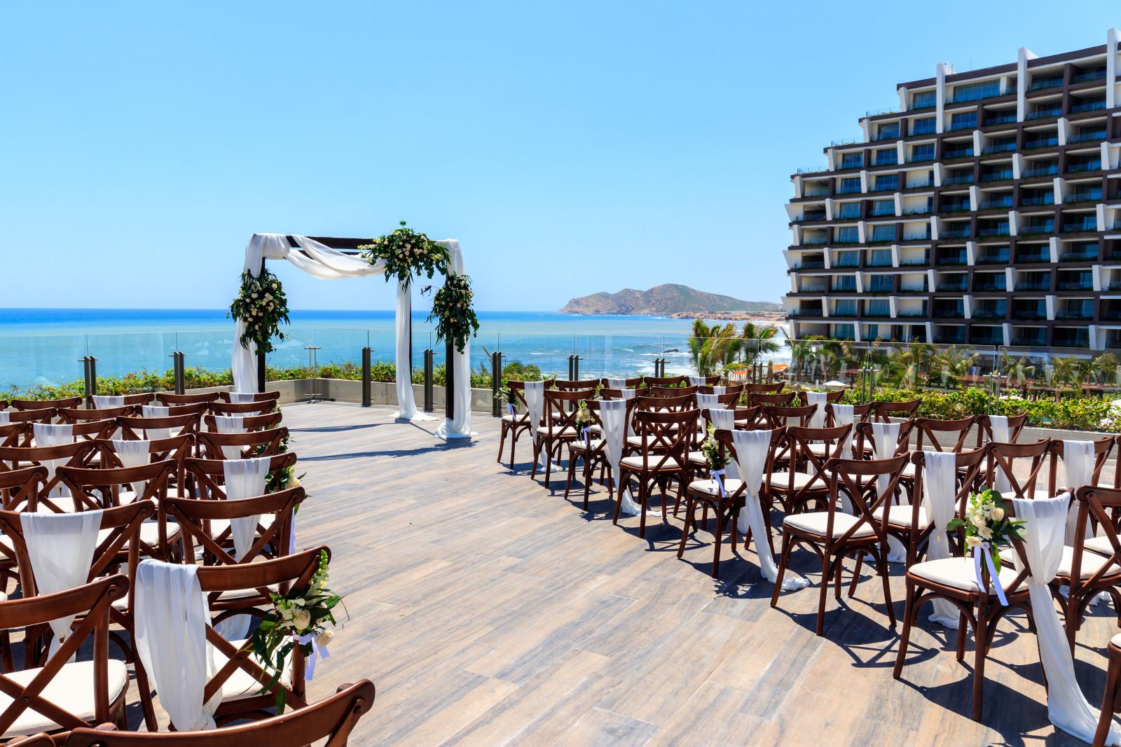 Grand Velas Los Cabos Destination Wedding Ceremony Ocean View