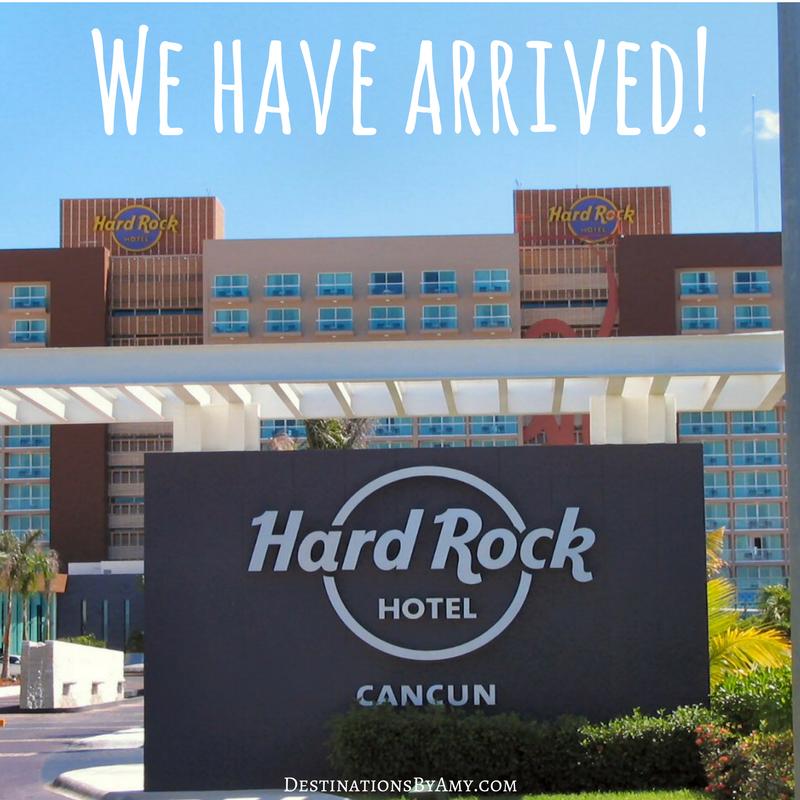 Hard Rock Cancun Signage Destination Wedding